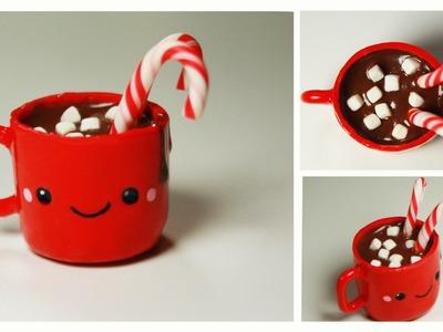 Polymer clay Kawaii Hot Chocolate TUTORIAL