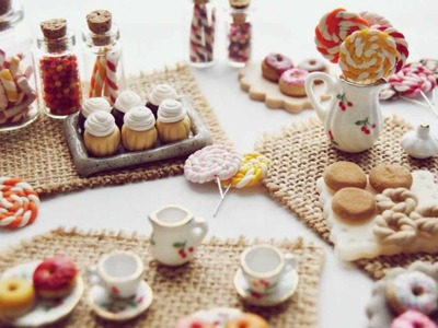 Polymer Clay Miniature Sweets - Candy & Desserts