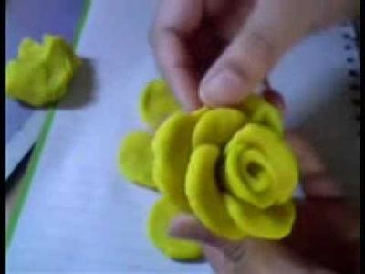 Polymer Clay rose flower Tutorial