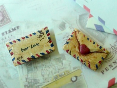 Polymer Clay Vintage Envelope Tutorial