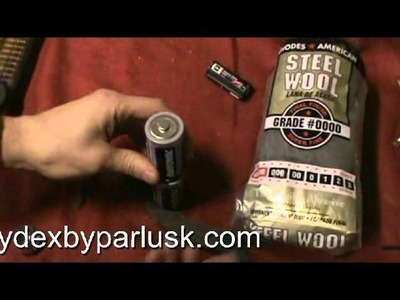 PREPPING:Tips, Tricks & Know-how EP3 steel wool fire starter