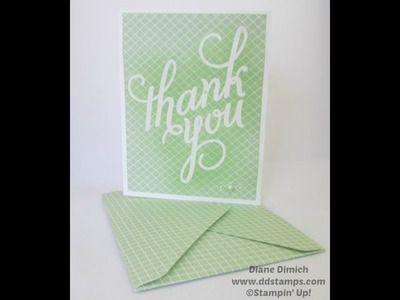 Stampin' Up! Another Thank-You With Envelope Punch Board