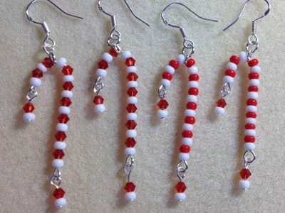 (Tutorial) Candy Cane Earrings (Video 13)