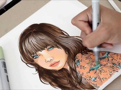 Tutorial - How to color with copics: coloring with elegance