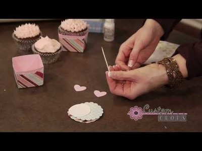 Valentine's Cupcake Holder Pt. 2 - Using Pink Paislee Paper