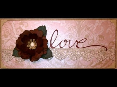 Valentine's Day Handmade Rose Card
