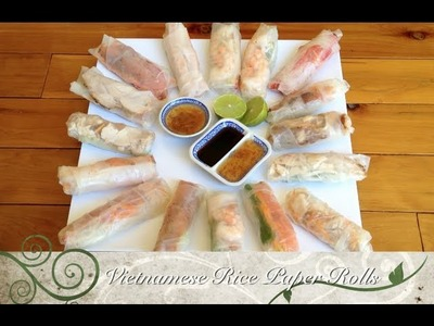 Vietnamese Rice Paper Rolls Easy Video Recipe