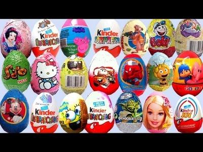 ★★ 20 Surprise Eggs ★★ Angry Birds SpongeBob Mickey Mouse Huevos Sorpresa