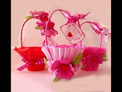 Basket for sweets. Easy and rich. Gift wrap. Easter basket