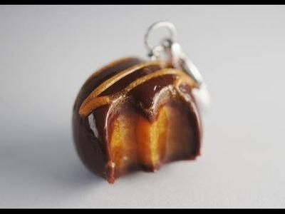 Chocolate Caramel Truffle Tutorial, Miniature Food Tutorial, Polymer Clay Tutorial