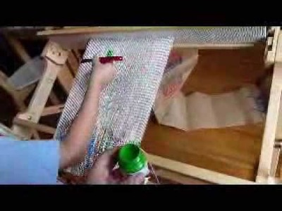 Direct warp painting on a Schacht Flip rigid heddle loom