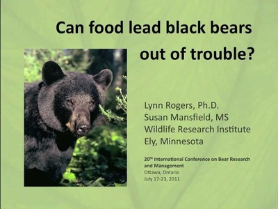 Diversionary Feeding: Can food lead black bears out of trouble?