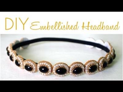 DIY Embellished Headband A La The Great Gatsby
