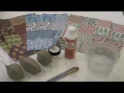Fast & Easy Glitter Decoupage Ornaments