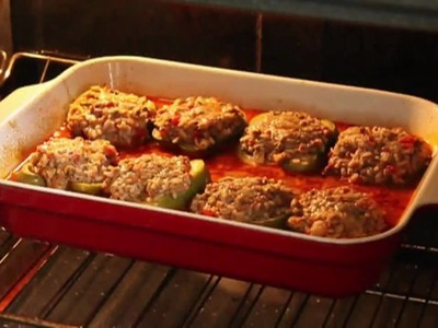 Food Wishes Recipes - Beef and Rice Stuffed Peppers Recipe -  Stuffed Bell Peppers