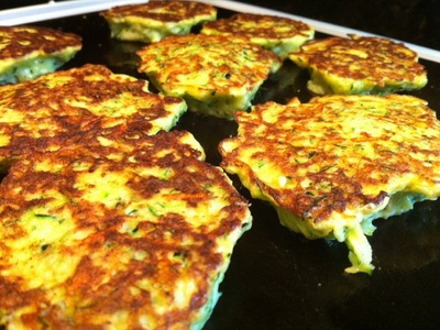 Fried Zucchini Recipe- Zucchini Fritters.  YUM!!