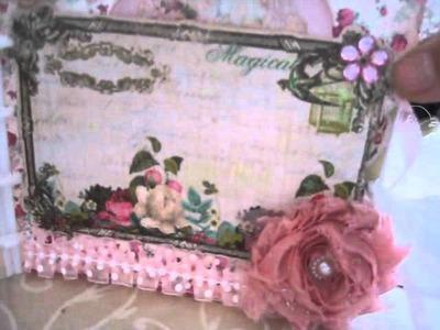 Gorgeous Shabby Chic Mini Album.Box for Annie @ msgardengrove1 prt2