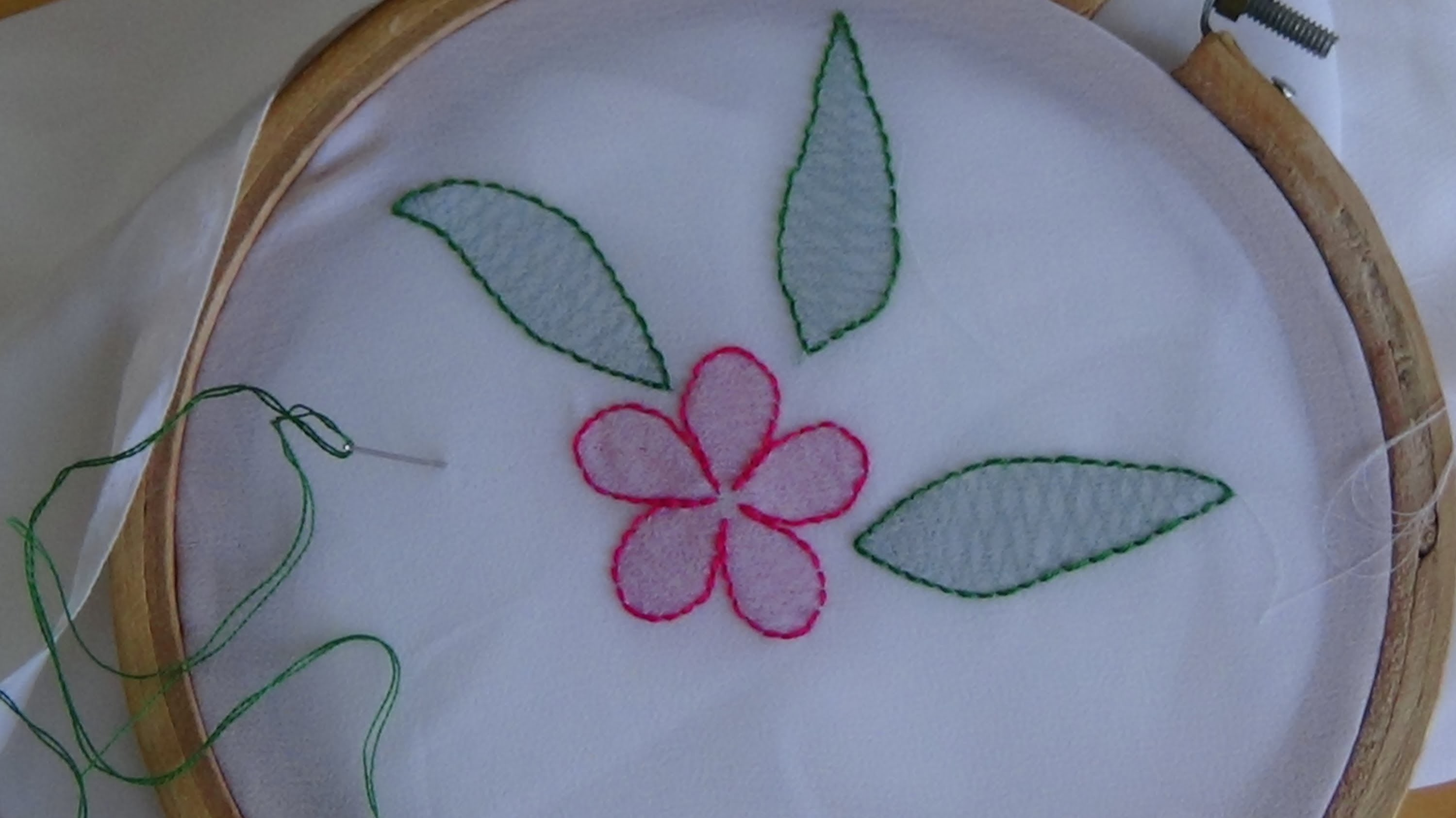 Hand embroidery shadow work stitch my crafts and diy
