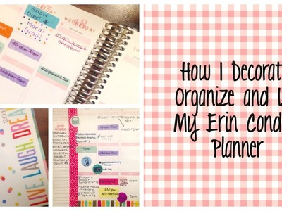 How I Decorate, Organize and Use My Erin Condren Life Planner for College.School | Tori Shea