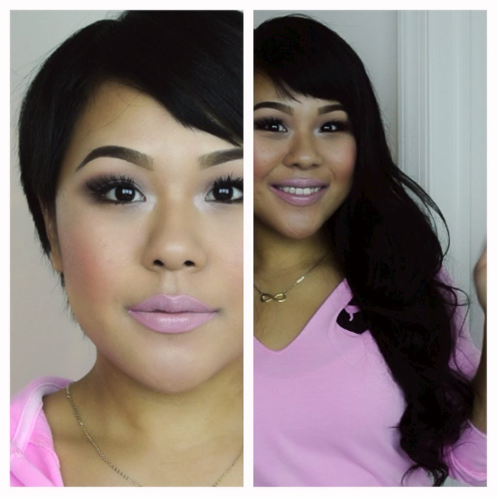How to clip in hair extensions for very short hair. MyPinkVanity and HairExtensionSale