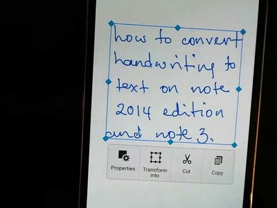 How to convert handwriting to text on the new S Note app for Galaxy note 10.1 2014 and Note 3
