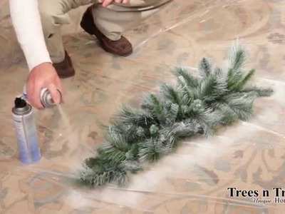 How To Flock or Snow Spray a Christmas Tree, Wreath, or Garland