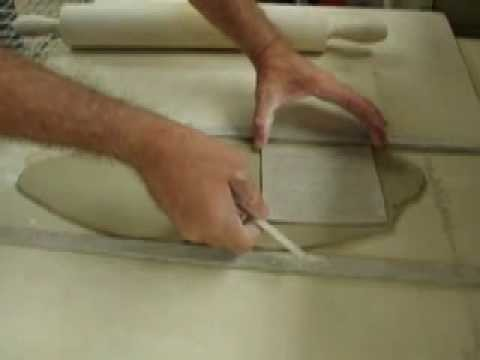How to make a ceramic box with firm slabs part 1
