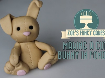 How to make a cute bunny fondant flower paste bunny teddy Cake Decorating Turorial