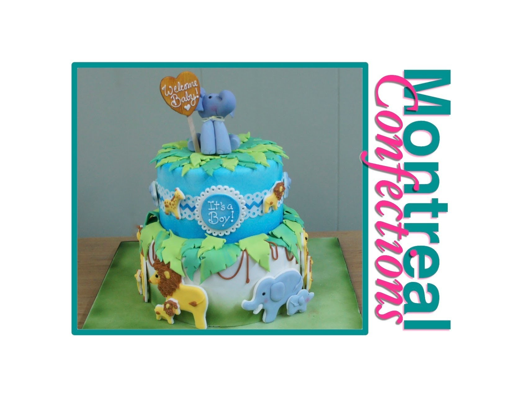 How to make a Safari themed baby shower cake