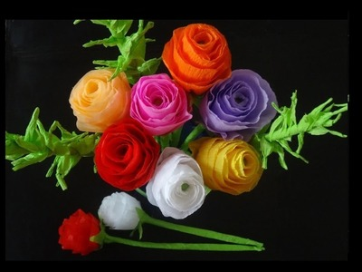 How to make paper flowers- Rose bouquet