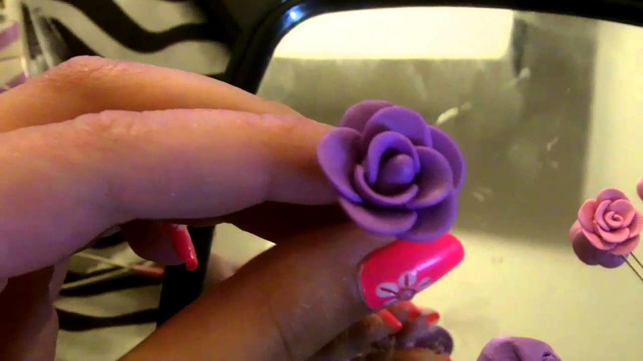 How To: Rose Stud Earrings (Polymer Clay Tutorial)