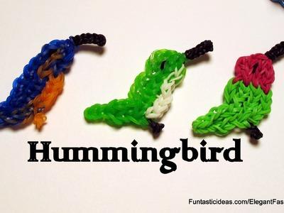 Hummingbird.Bird 2D Charm - How to Rainbow Loom - Animal Series