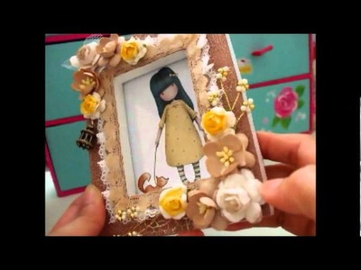 Lovely Handmade 'Gorjuss' Card and Altered Picture Frame for Janet MzRichful.wmv