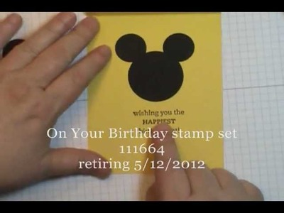 Mickey Mouse Punch Art Card - So Cute!