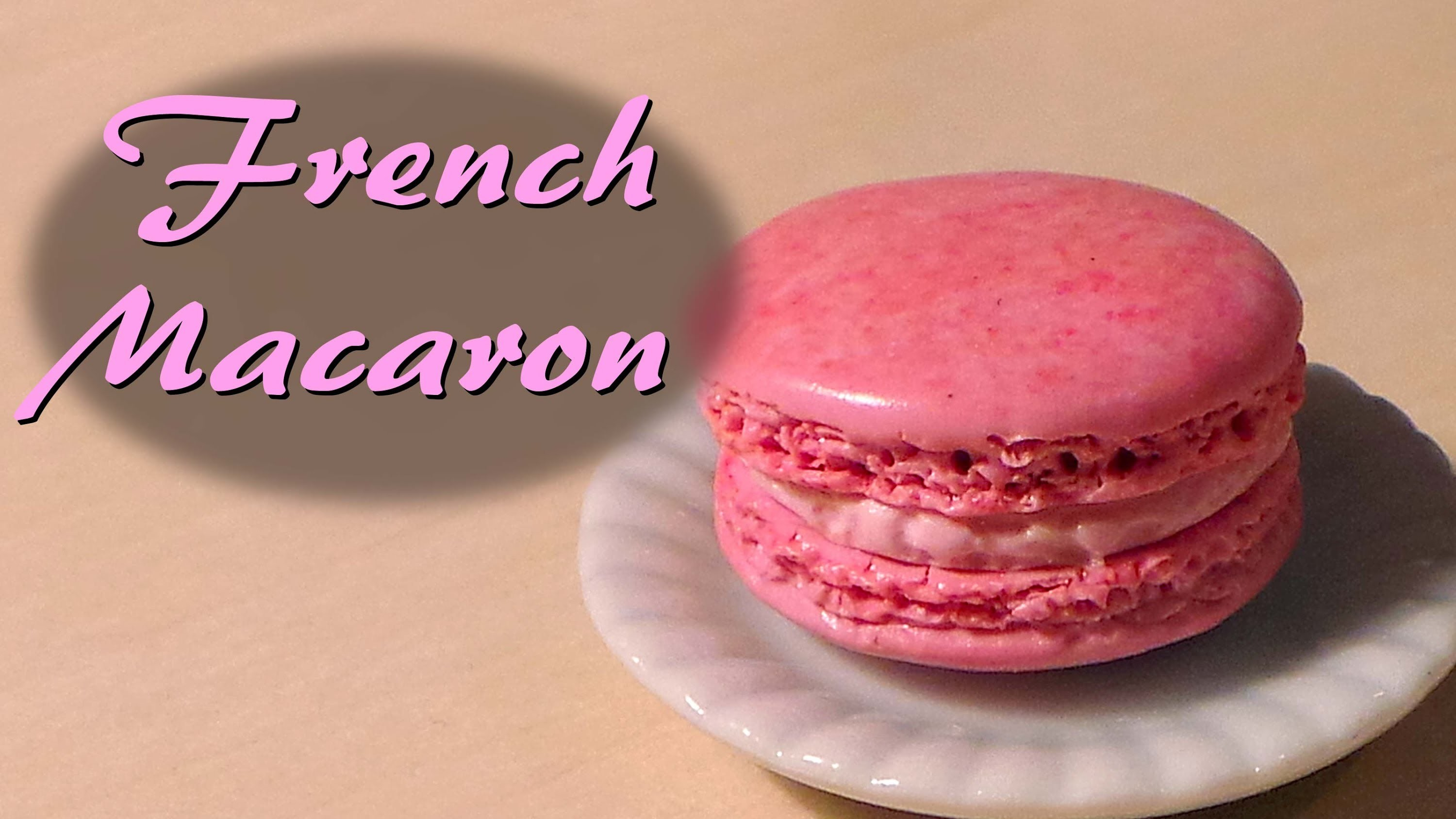Miniature Cafe Polymer Clay Tutorial; French Macaron