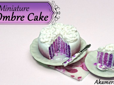 Miniature Ombre Cake - Polymer Clay Tutorial