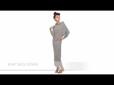 Norma Kamali All in One Gown How to Wear Video