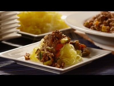 Paleo Recipes - How to Make Spaghetti Squash with Meat Sauce