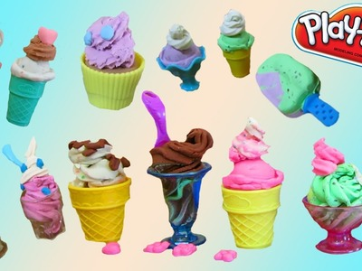 Play Doh Ice Cream, Cookies, Sweets, Cupcake Desserts SUPER Video with 7 Playsets!