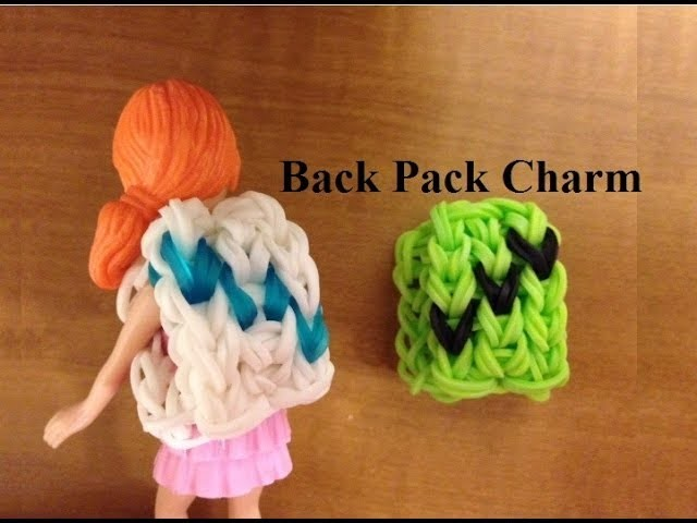 Rainbow Loom Charm Mini Book Bag or Back Pack