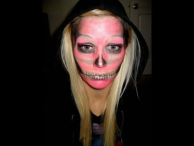 SKELETON FACE HALLOWEEN TUTORIAL