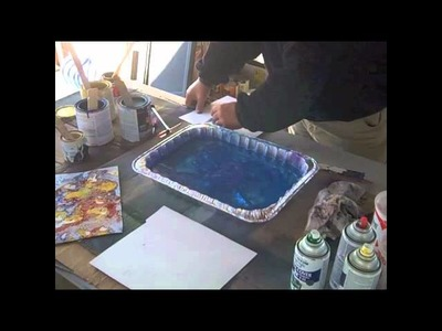 Spray Can Marbleizing in 60 Seconds or Less