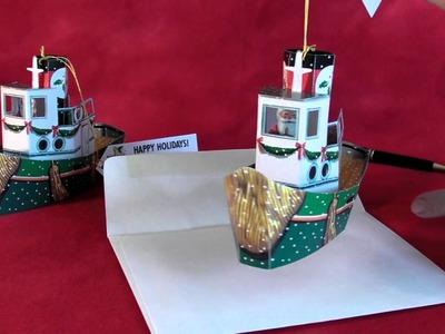 Tugboat Santa Pop-Up Cards for Christmas!