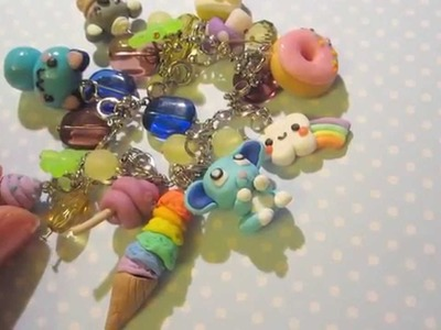 Update #1 - Polymer clay charm jewellery bracelets necklaces and earrings =D