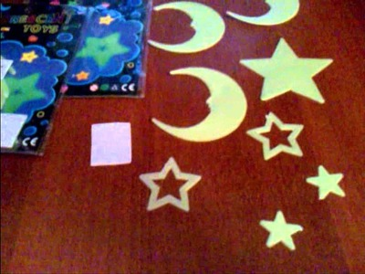 2 Packs Adhesive Fluorescent Toys Night Ray Glowing Stickers in Dark Decorative for Wall Bedroom   Moon and Star Shape HDS 42346
