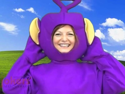 Adult Official Teletubbies Tinky Winky Costume (ref: 61865)
