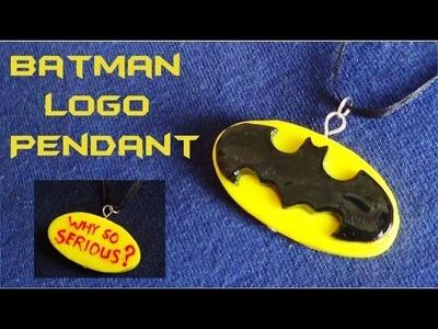 Batman Logo Pendant! - Polymer Clay Tutorial