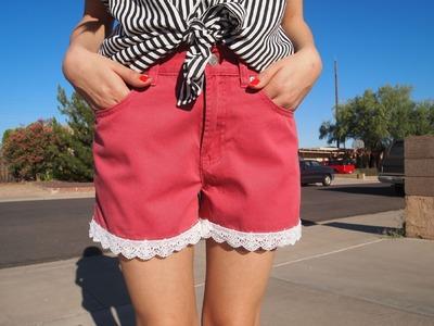 D.I.Y Lace Trim Shorts