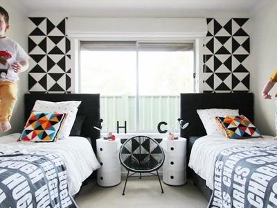 Design Trend Alert - Black & White in Boys' Room Decor