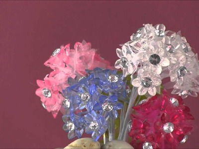 Diamond Center Mini Acrylic Flowers from Paper Mart